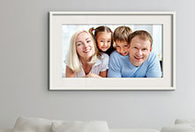 Foto poster en salon ejemplo familia