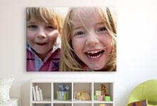 cuarto niños foto metacrilato ejemplo primer plano niños risa
