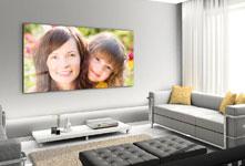 foto metacrilato gran formato ejemplo madre con niño