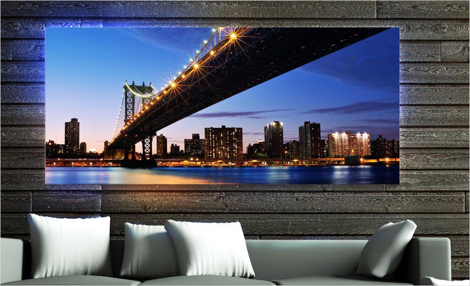foto metacrilato iluminada pared ejemplo puente