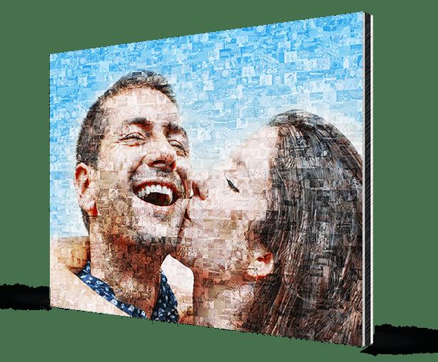 foto mosaico en aluminio