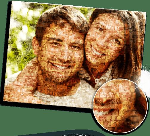 ideas foto metacrilato mosaico ejemplo pareja
