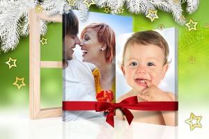 pagina navidad foto lienzo vista regalo