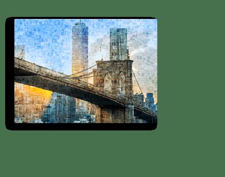 pie foto metacrilato mosaico ejemplo puente