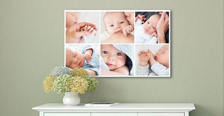 salon collage en metacrilato vista ejemplo bebe