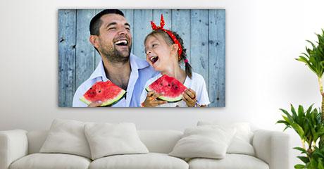 salon foto metacrilato ejemplo padre hija sandia