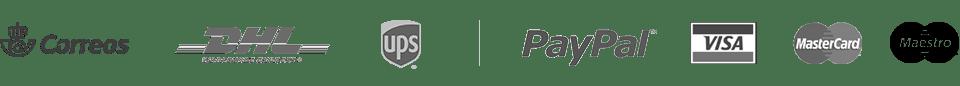 Nuestros socios - logos medios de pago, medios de envio y distinciones